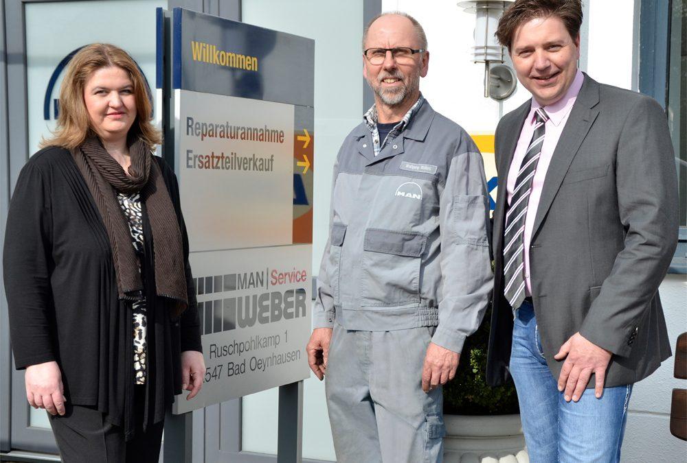 Gratulation – Wolfgang Möllers, 40 Jahren Betriebszugehörigkeit.